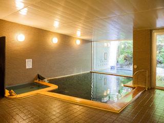 ネオオリエンタルリゾート八ヶ岳高原 森林浴気分を味わえる温泉大浴場・露天風呂です。とろっとした泉質が好評です