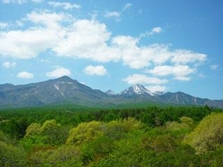 大泉高原八ヶ岳ロイヤルホテル 展望デッキから望む八ヶ岳