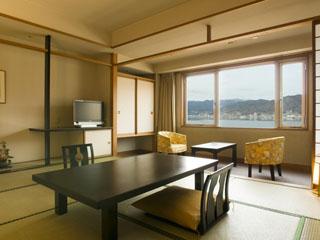 ラコ華乃井ホテル スタンダード和室、湖一望、和室10畳
