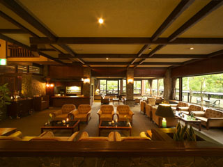 穂高荘山のホテル フロント&ロビー