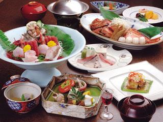 海一望絶景の宿 いなとり荘 料理一例
