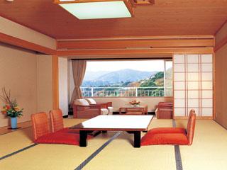 ハトヤホテル 趣きあふれる客室は、全室天然自噴温泉のお風呂付き