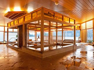 ホテル九重 大浴場「遠州絵巻の湯」/遠州の名所を湯で巡る寛ぎ空間
