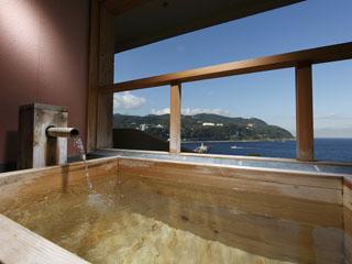 貸切風呂の宿 稲取赤尾ホテル 海諷廊 露天風呂のついた部屋もあり。稲取の海がご覧になれます