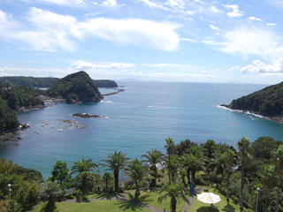 下田東急ホテル エメラルドグリーンの海が一望