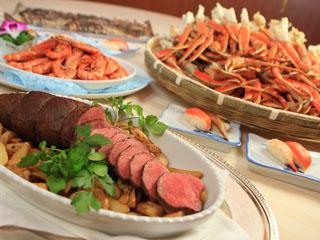 浜名湖ロイヤルホテル ローストビーフに蟹に寿司の他、和洋中50種以上の自慢料理を揃えたバイキング