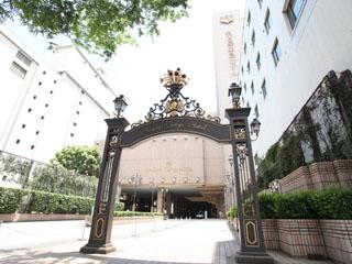 名古屋東急ホテル 門をくぐると右手にある「四季の泉」の水の音が心地よい