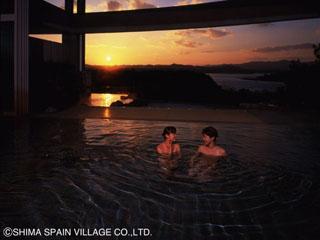 ホテル志摩スペイン村 沈みゆく夕陽を眺めながらゆったりと夢心地