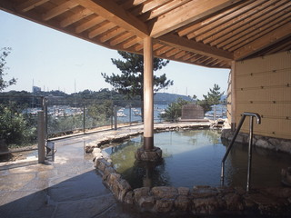 鳥羽グランドホテル 港を望む露天風呂