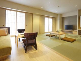 リーガロイヤルホテル京都 琉球畳を敷いた心落ち着く和室