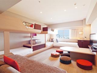 ホテルユニバーサルポート 2012年春に誕生したPARTY ROOMは最大6名ご利用可能!