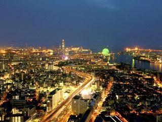 ホテル大阪ベイタワー 夜には宝石を散りばめたような美しい夜景が楽しめます