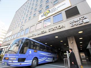 大阪新阪急ホテル 南玄関前から関空・伊丹へのリムジンバスが発着。ビジネス・レジャーに最適★