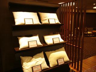 有馬温泉 御幸荘花結び お客様にお好みの枕を6種類の中よりお選び頂いております