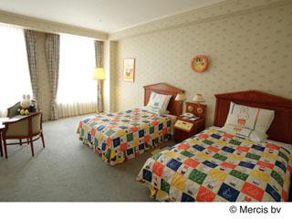 ホテルアムステルダム ミッフィールームをはじめ、キャラクタールームはファミリーに人気