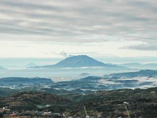 旅行人山荘 客室から望む桜島