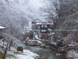 大沢温泉山水閣 冬の風景