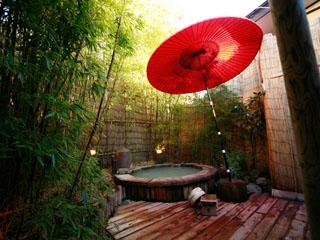 おくど茶寮 利休庵 【なよ竹の湯】かぐや姫をイメージした貸切露天風呂