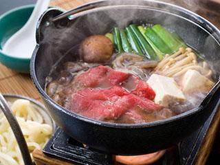 ホテル椿舘 当館自慢の牛鍋、こだわりの食材