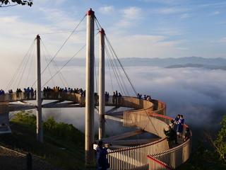星野リゾート リゾナーレ トマム 雲海テラス 雲の上を歩くデッキ Cloud Walk 2