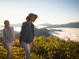星野リゾート トマム ザ・タワー 雲海テラス 登山
