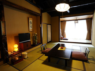 本家伴久 全室清流沿いで、お部屋の趣が一部屋一部屋全てが異なる