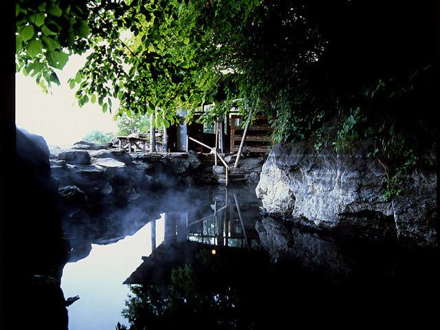 丸駒温泉旅館 露天風呂