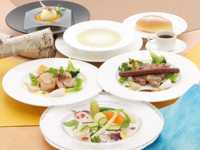 北海道の旬の食材を利用した料理