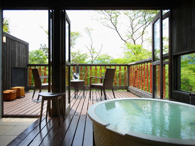 箱根フォンテーヌブロー仙石亭 全館源泉かけ流しの露天風呂付き客室