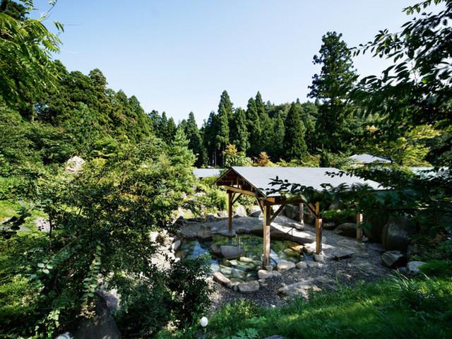 風雅の宿長生館 新潟県最大級の広さを誇る庭園大露天風呂