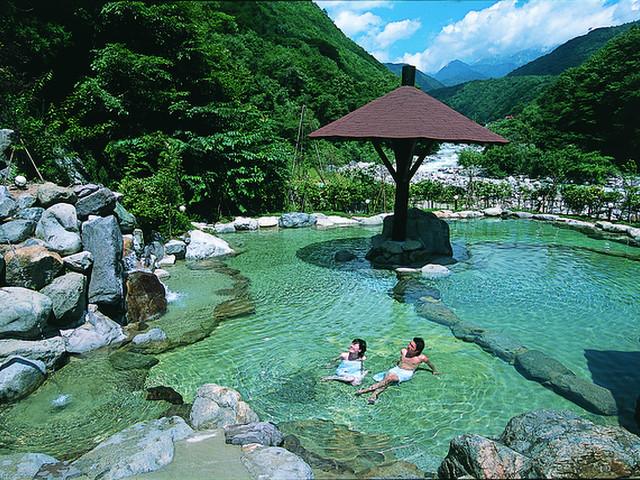 穂高荘山のホテル 混浴風呂 山峡槍の湯