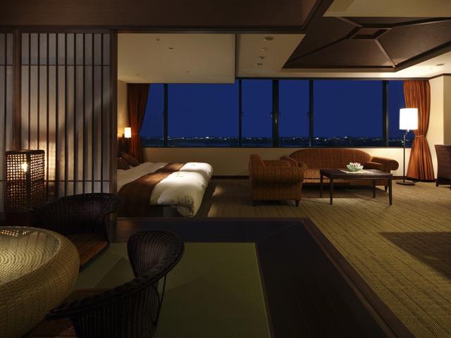浜名湖ロイヤルホテル 客室の眼下の浜名湖の眺めに、心安らぐ