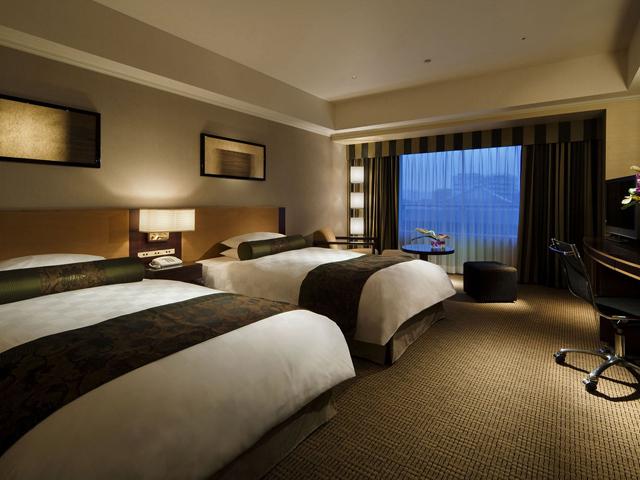 京都ホテルオークラ 京都らしい和をとり入れたツインは37平米とゆったり