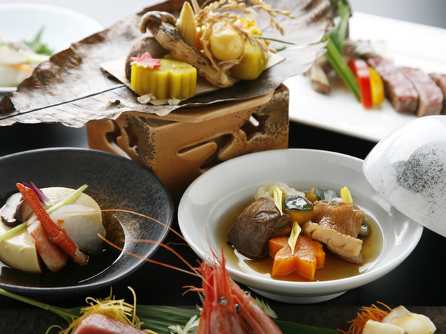 定山渓第一寶亭留 翠山亭 道産の季節の味覚を色彩豊かな会席料理でどうぞ