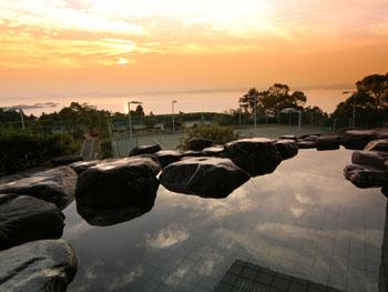 瀬戸内海を一望できる天然温泉露天風呂