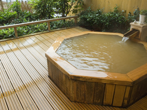 心に咲く花 古久家 客室の露天風呂