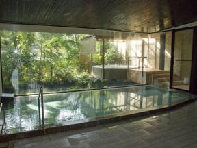 海石榴つばき 1枚ガラスの向こうからやさしい光が差し込む浴室