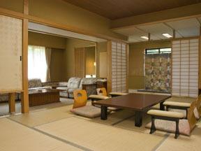 大江戸温泉物語 鳴子温泉 幸雲閣 使い勝手のいいベッドルームと茶室、水屋までついた特別室