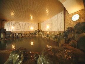 名湯の宿パークホテル雅亭 男子大浴場「地獄の湯」奥の湯