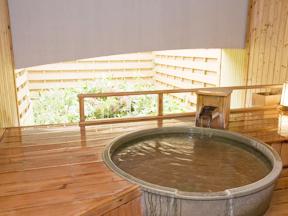 草津ナウリゾートホテル 部屋付貸切露天風呂 信楽