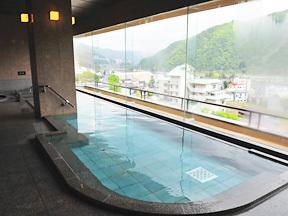 水が織りなす越後の宿 双葉 展望大浴場「空の湯」ぱぱらく、内湯