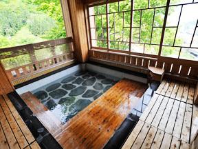 雪国の宿高半 女性露天風呂