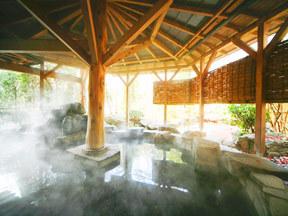 花巻温泉 ホテル紅葉館 ゆったりした広さがある女湯露天風呂