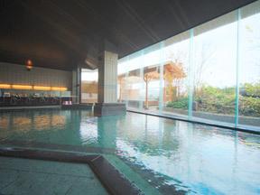 ホテル紫苑 檜の湯(大浴槽)