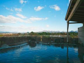 ホテル森の風鶯宿 森や空しか目に入らない空中露天風呂