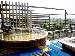 ホテル石庭 総檜展望露天風呂